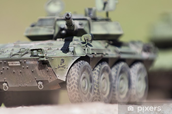 Wheeled Tank Destroyer Centauro VCR105 Model Kit Pixerstick Sticker - Themes