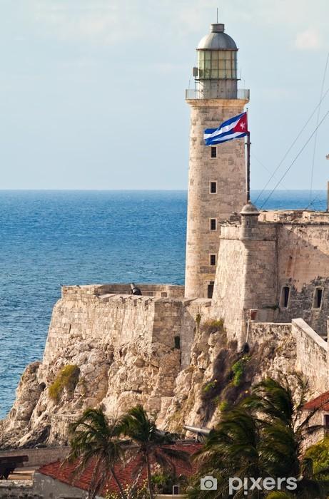 Papier peint vinyle Le château d'El Morro à l'entrée de la baie de La Havane - Amérique