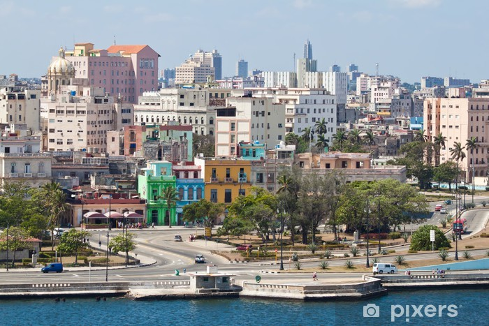 Panoramic view of Old Havana Vinyl Wall Mural - Cuba