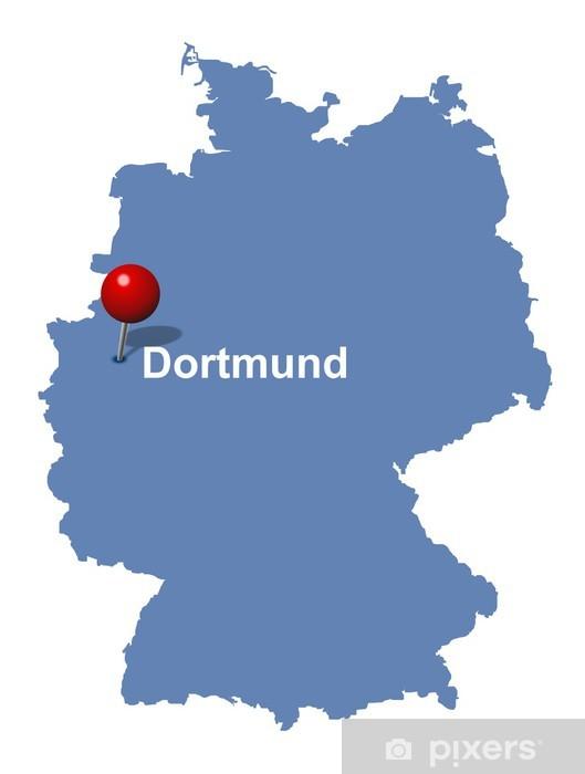 Dortmund Auf Der Deutschlandkarte Wall Mural Pixers We Live