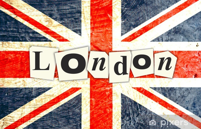 Fototapeta winylowa British flag london - Flagi narodowe