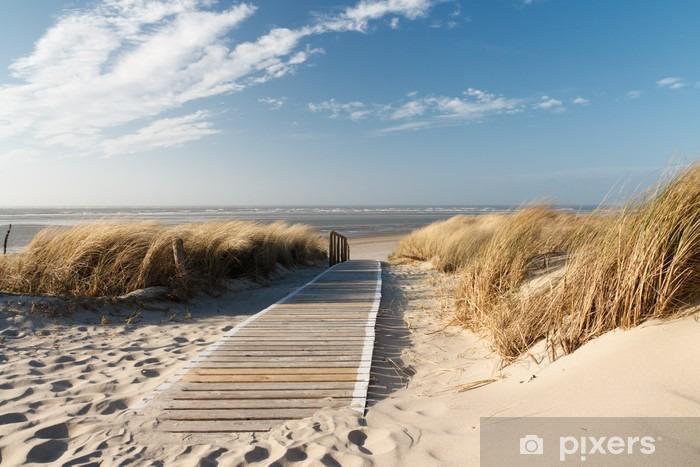 Vinilo Pixerstick Playa del Mar del Norte en Langeoog - Mar y océano