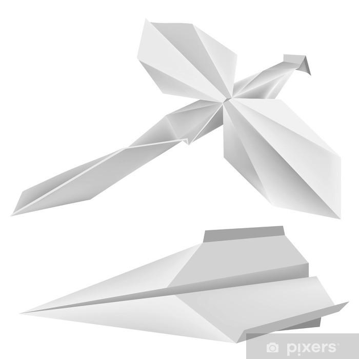 Papier peint vinyle Origami_dragonfly_airplane - Jeux