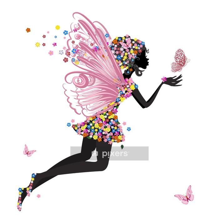 Naklejka na ścianę Flower Fairy z Motyl - Inne uczucia