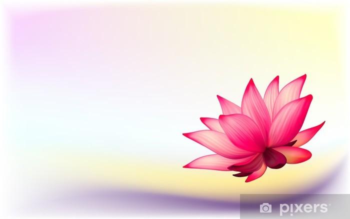 Carta da Parati in Vinile Foto-realistica vettoriale fiore di loto su sfondo astratto - iStaging 2