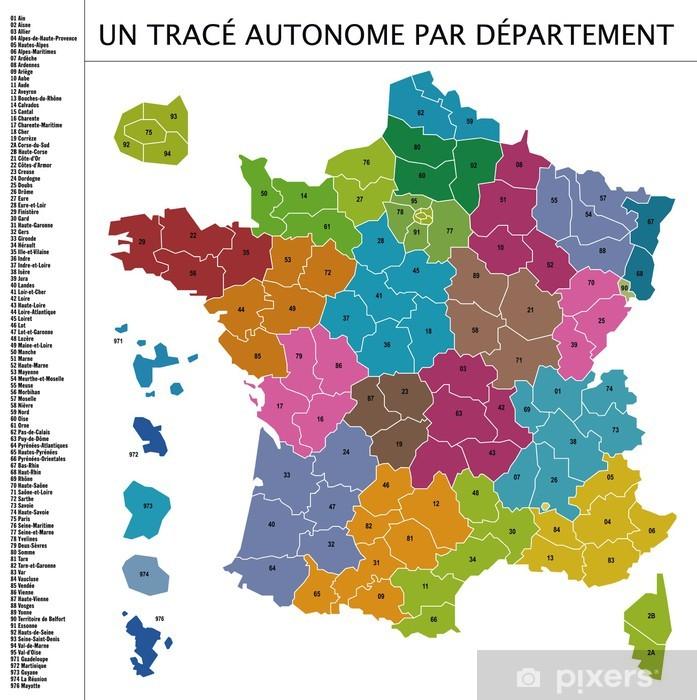 Corona Frankreich Karte Departement