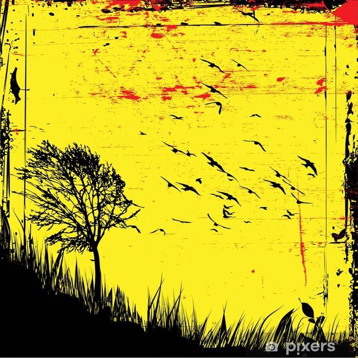 vector grunge poster Vinyl Wall Mural -