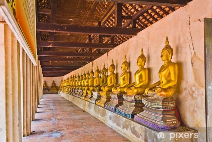 Naklejka Na Szybę I Okno Wiersz Buddy Obrazu W Wat Buddhai Sawan W Ayutthaya Tajlandia
