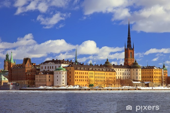 Papier peint vinyle Centre de Stockholm - Europe