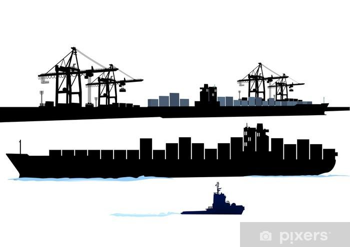 Fototapeta winylowa Port z kontenerowca - Przemysł ciężki