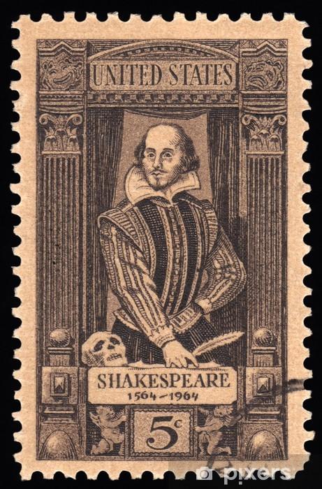 Papier peint vinyle USA Vintage timbre-poste William Shakespeare - Art et création
