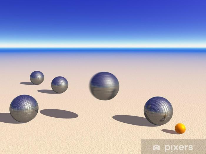 Papier peint vinyle Jeux de boules de pétanque sur le sable - Signes et symboles