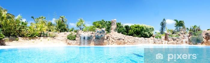 Fototapeta winylowa Widok z basenem - Tematy
