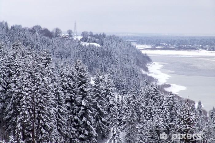 Naklejka Pixerstick Zima banku - Pory roku