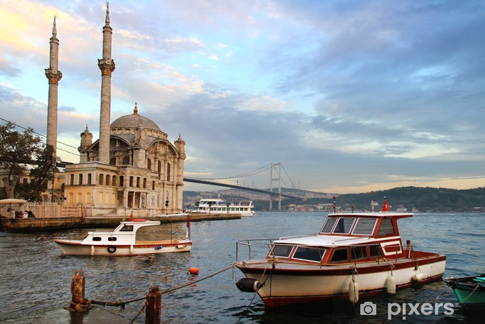 Ortakoy evening in Istanbul Pixerstick Sticker - The Middle East