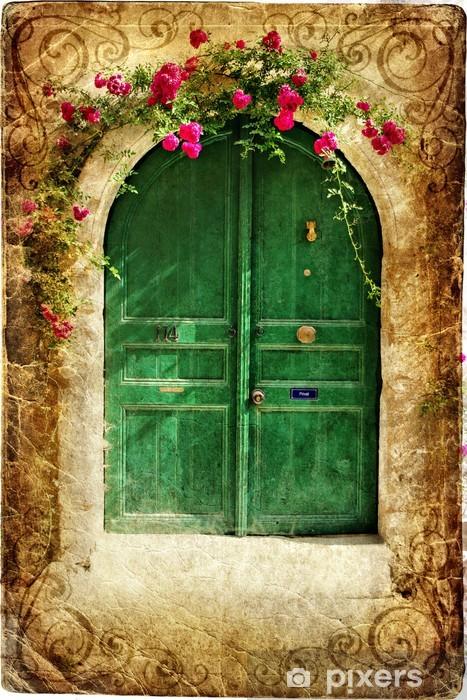old greek doors - vintage series Vinyl Wall Mural - Themes