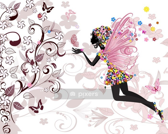 fairy pattern Wall Decal -
