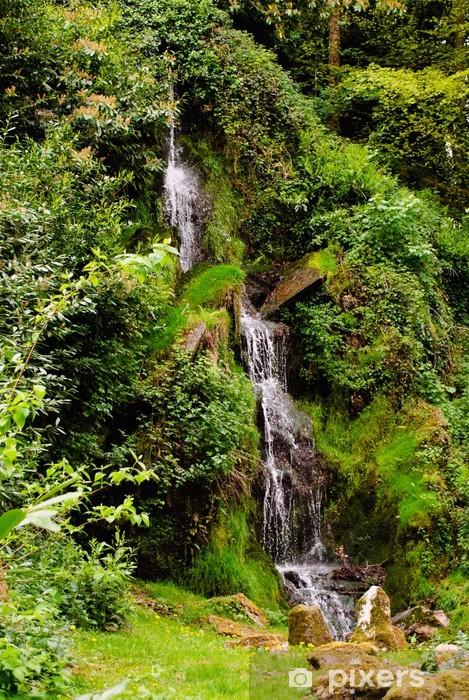 Waterfall in Somerset in Spring Pixerstick Sticker - Water