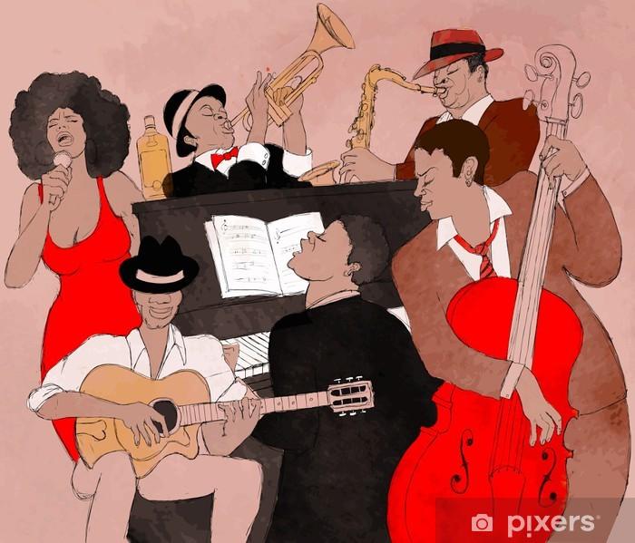 Papier peint vinyle Groupe de jazz - Jazz