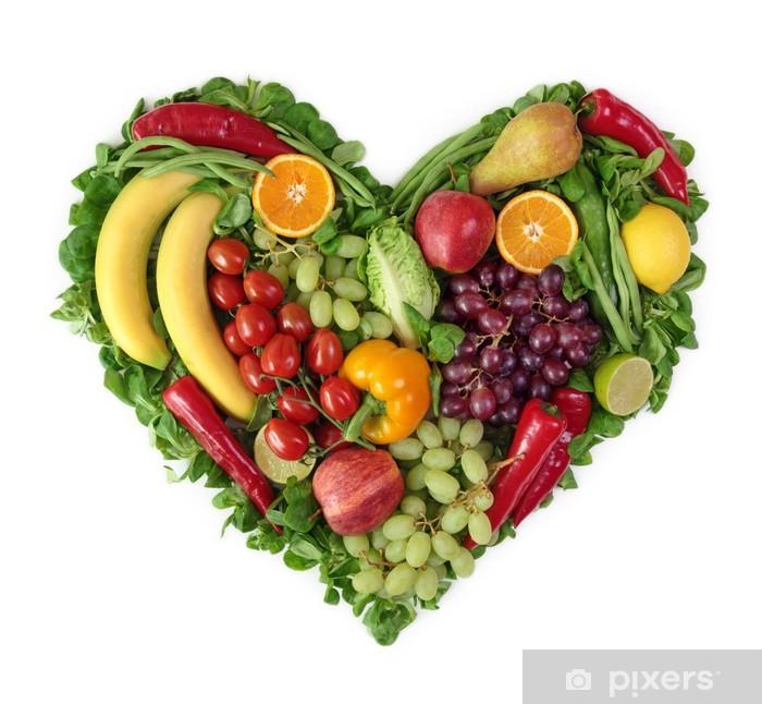 Fotomural Corazon De Frutas Y Verduras Pixers Vivimos Para Cambiar