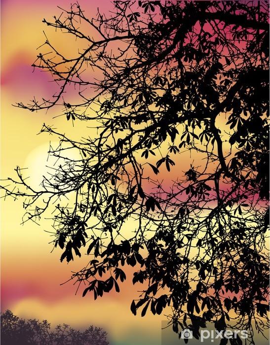 Naklejka Pixerstick Jesienne gałęzie kasztanów - Cuda natury