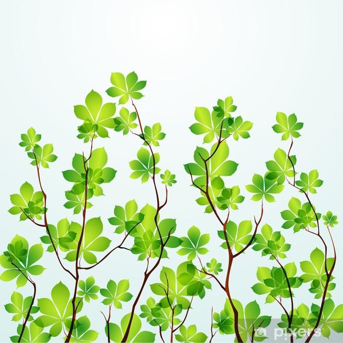 Nálepka Pixerstick Jarní strom na pozadí - Roční období