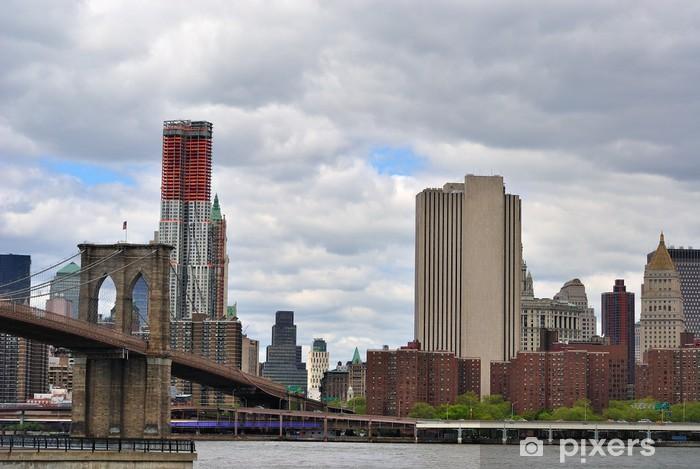 Papier peint vinyle Pont de Brooklyn à New York - Villes américaines