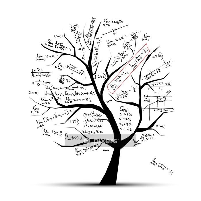Vinilo para Pared Matemáticas árbol para su diseño - Vinilo para pared