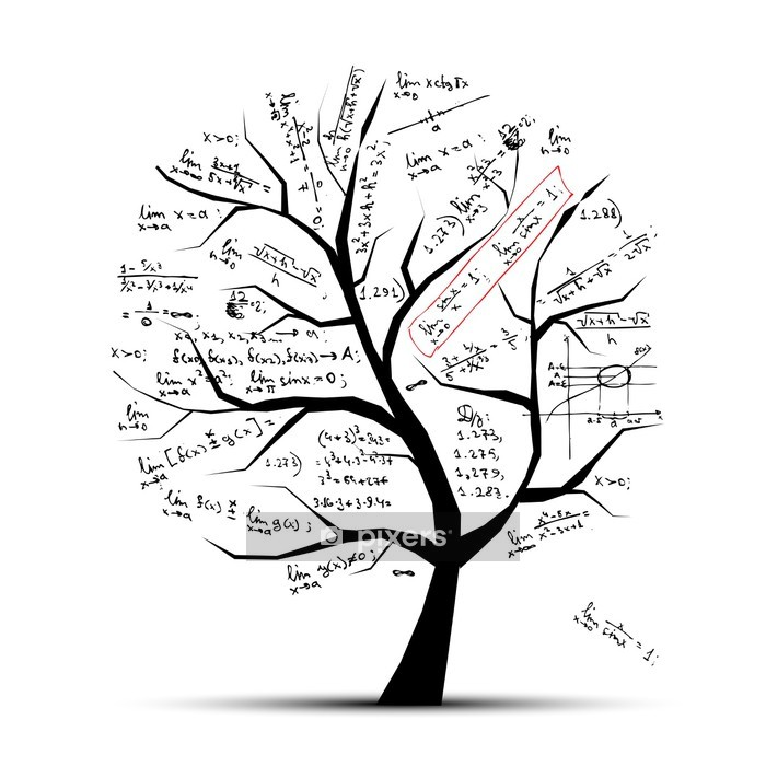 Math tree for your design Wall Decal - Wall decals