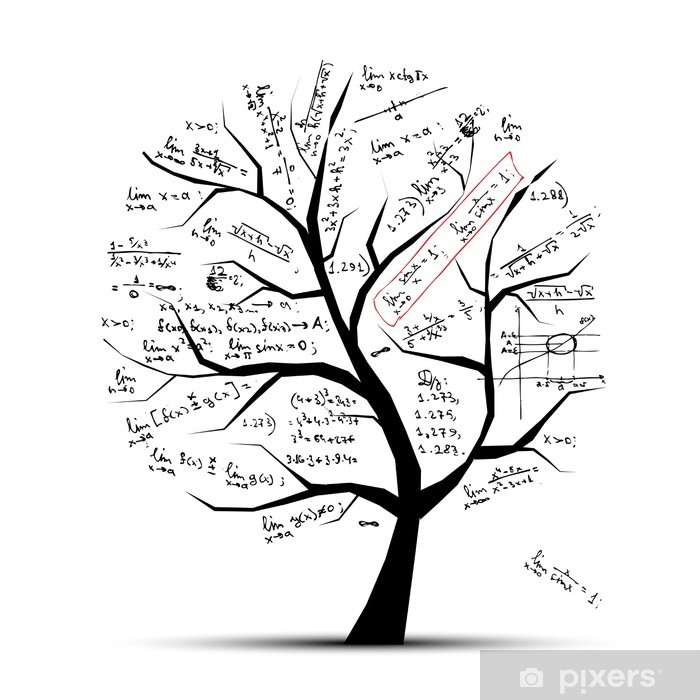 Math tree for your design Vinyl Wall Mural - Wall decals
