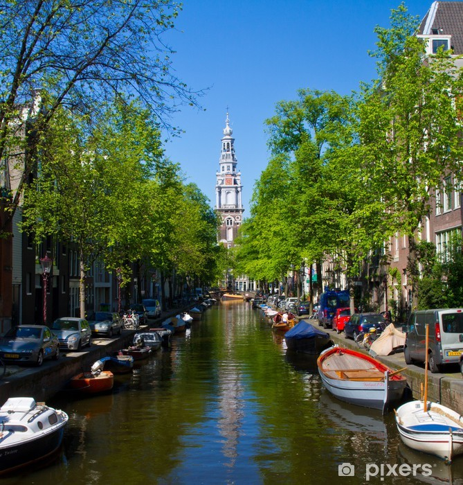 Sticker Pixerstick Amsterdam, canale - Villes européennes