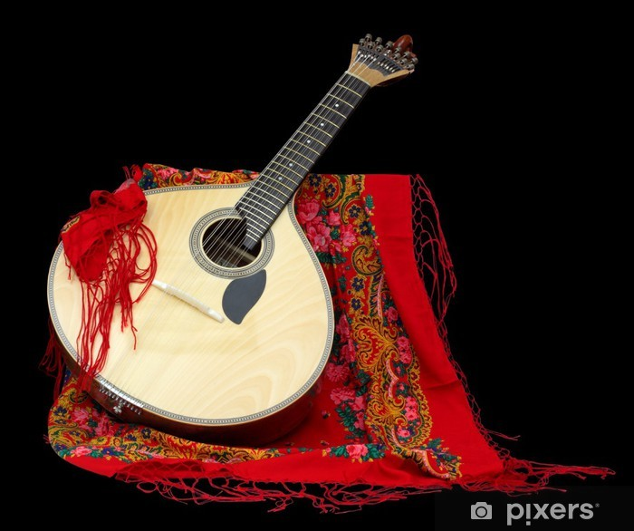 Portuguese Guitar for Fado Pixerstick Sticker - Themes