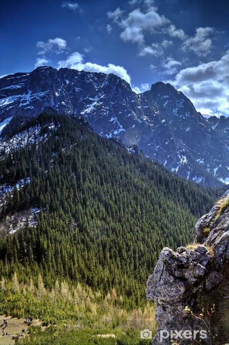Pixerstick Aufkleber Berglandschaft (Mt. giewont) - Themen