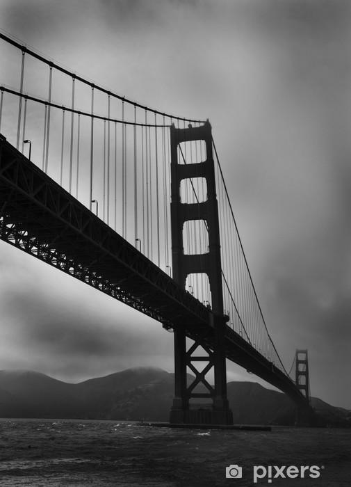 Naklejka Pixerstick Golden Gate Bridge - Black / White - Tematy