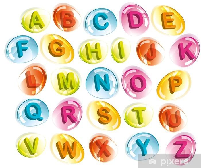 Vinyl-Fototapete Joyful alphabet in colorful drops - Ausbildung
