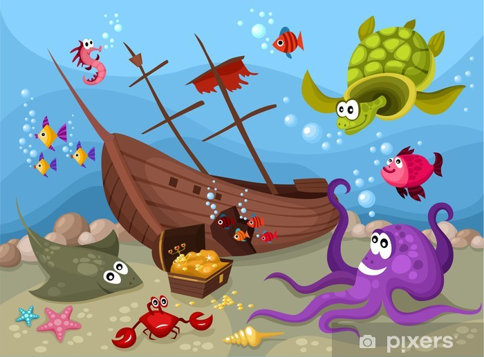 sea life Pixerstick Sticker - Themes