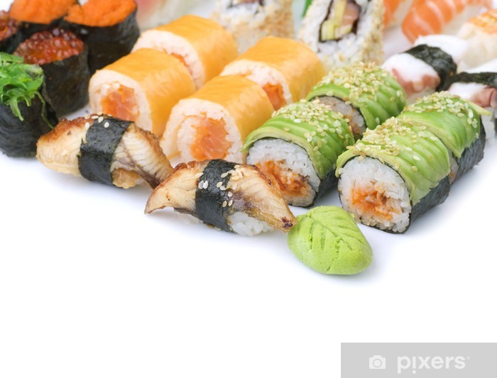 Fototapeta winylowa Sushi nad białym - Sushi