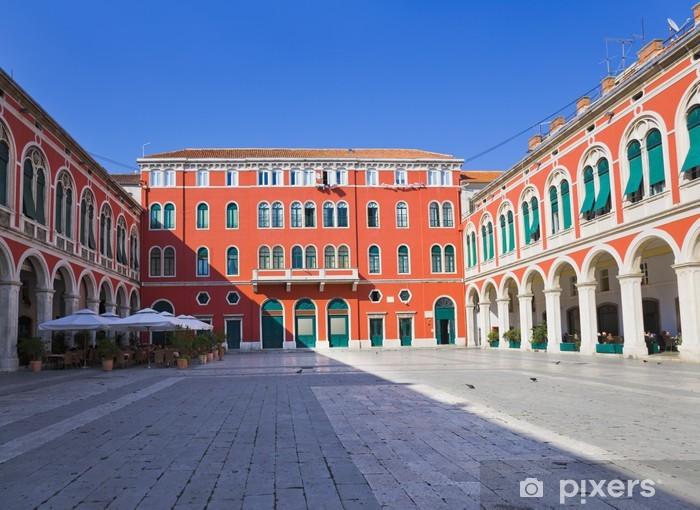 Nálepka Pixerstick Mediterranean náměstí a palác ve Splitu, Chorvatsko - Prázdniny