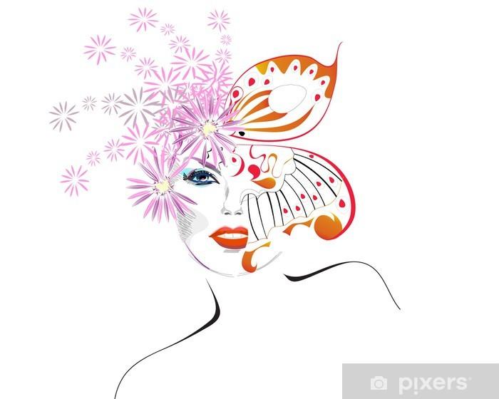 Abstract woman Vinyl Wall Mural - Women