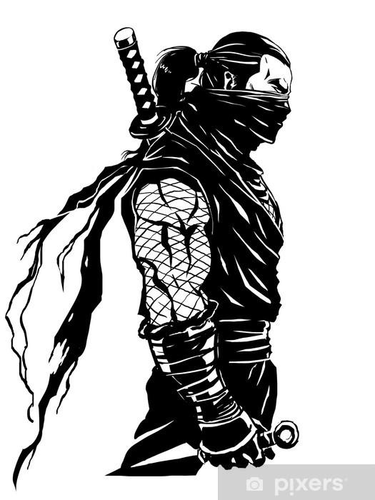 Naklejka Pixerstick Shinobi ninja - Naklejki na ścianę