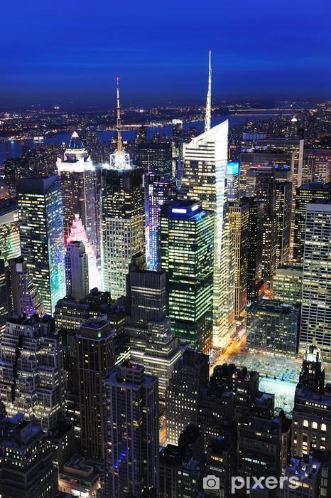 New York City Manhattan Times Square night Vinyl Wall Mural - America