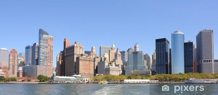 Fototapeta winylowa Manhattan Skyline od Battery Park - Miasta amerykańskie