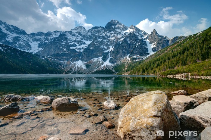 Polish Tatra mountains Morskie Oko lake Pixerstick Sticker - Themes