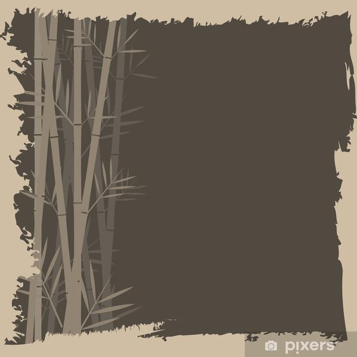 Naklejka Pixerstick Bamboo wektor backgorund - Uroda i pielęgnacja ciała