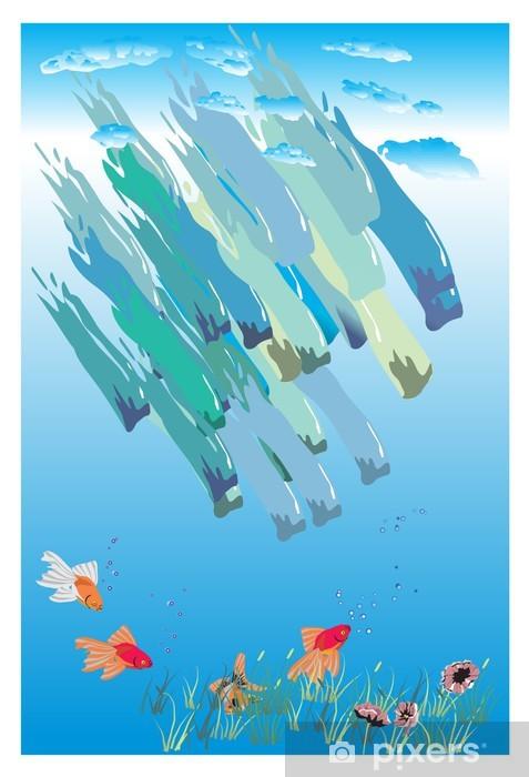 Naklejka Pixerstick Złota rybka - Zwierzęta żyjące pod wodą