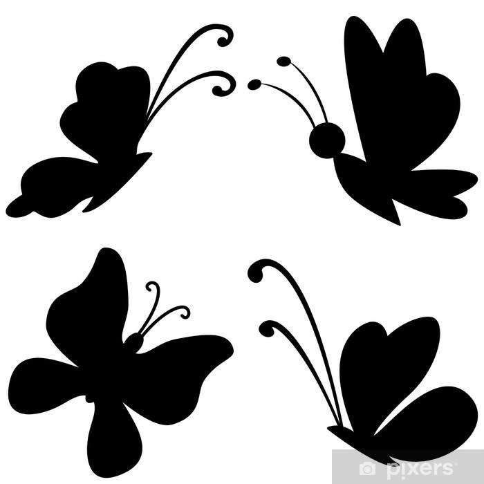 Poster Silhouettes de papillons - Merveilles naturelles