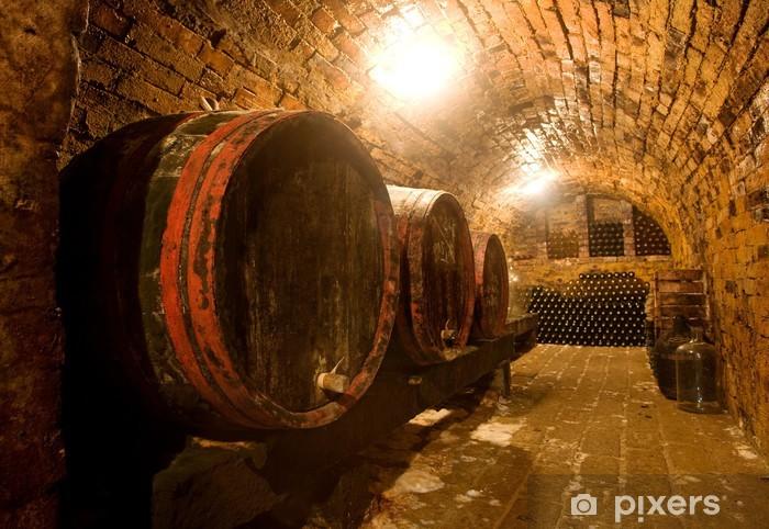 Naklejka Pixerstick Beczki wina - Alkohol