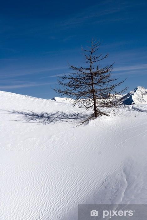 Naklejka Pixerstick Zima samotność - Pory roku