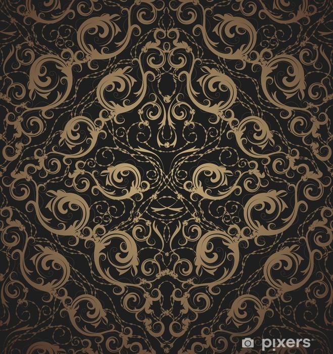 Papier peint vinyle Ornement floral transparente - Textures