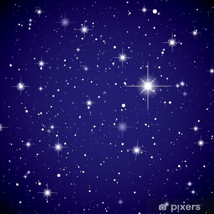 Sticker pour porte L'espace d'affichage étoile ciel - Univers